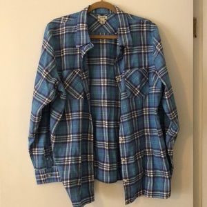Women's xl plaid flannel LL Bean